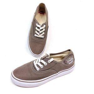 Levis Unisex Skate Shoes Brown Tan Canvas Lace Up